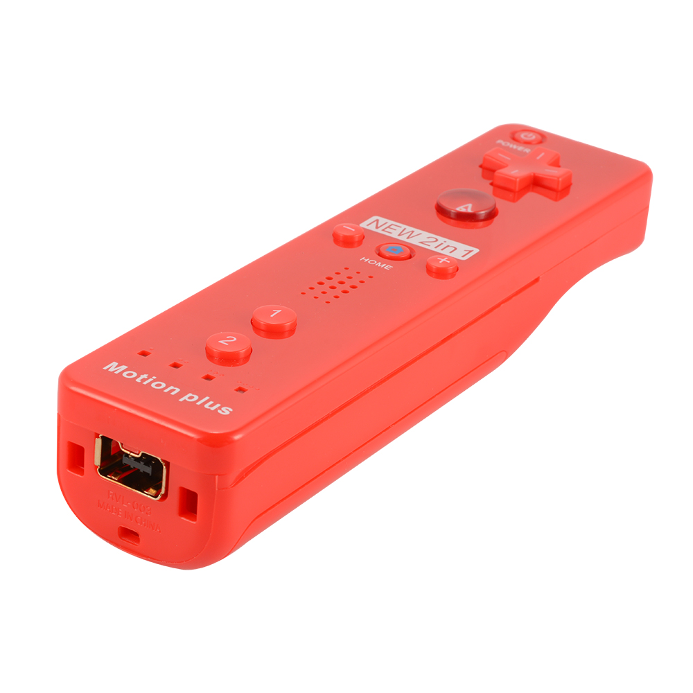 motion plus remote and nunchuck controller case set for nintendo wii red ac1024 ebay. Black Bedroom Furniture Sets. Home Design Ideas