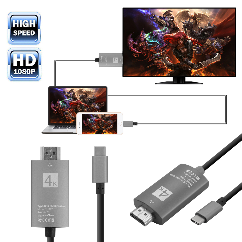 Details about USB 3 1 Type C to HDMI HDTV Media Adapter for USB-C  Smartphone NoteBook AC1063