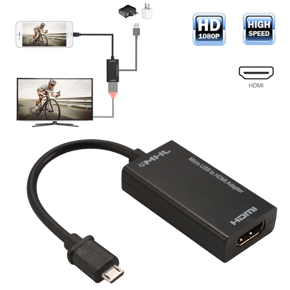 Details about HOT Micro USB 2 0 MHL to HDMI Cable Adapter 1080P for Android  Cell Phone AC1387
