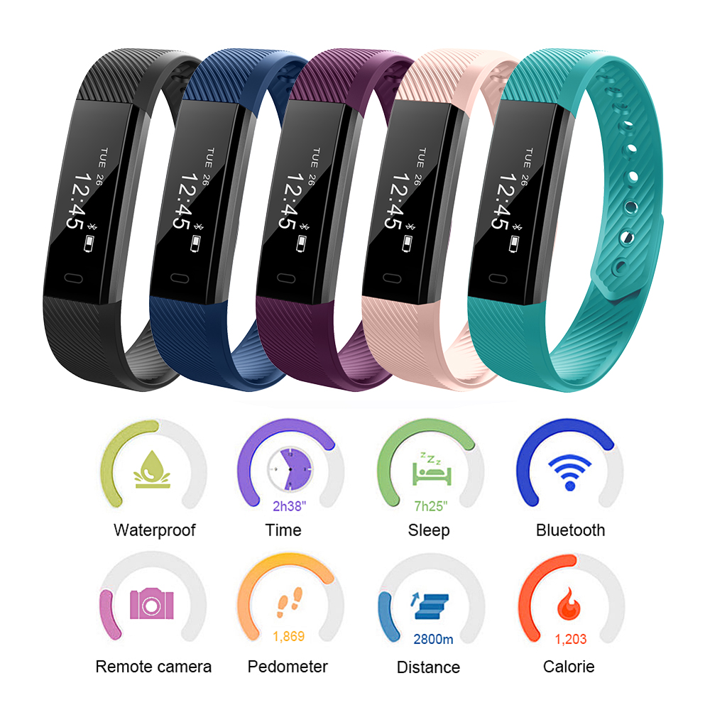 fitness tracker smart armband herzfrequenz z hler pulsuhr. Black Bedroom Furniture Sets. Home Design Ideas