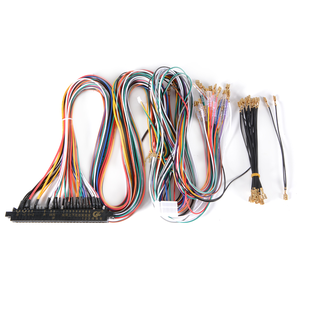 AC709 E 10 4 28 pin wiring harness cable diy kit for arcade jamma video game jamma wiring harness at gsmx.co