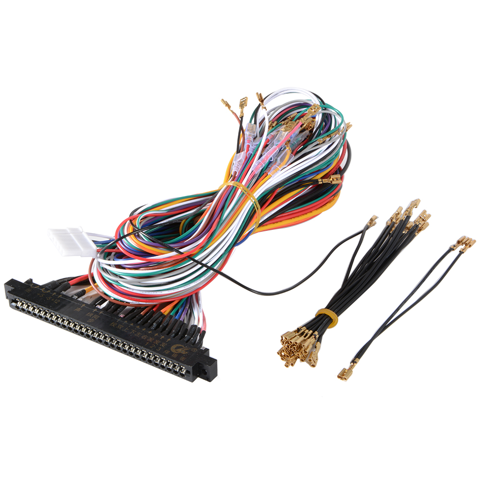 Wiring Harness Cable DIY Parts Assemble Kit for Arcade Jamma Game ...