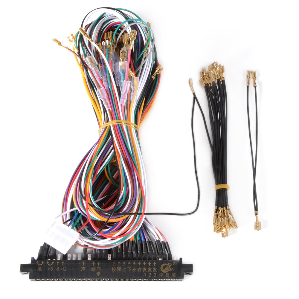 wiring harness 28pin cable diy for jamma arcade game multicade rh ebay com Automotive Wire Suppliers Switch Car