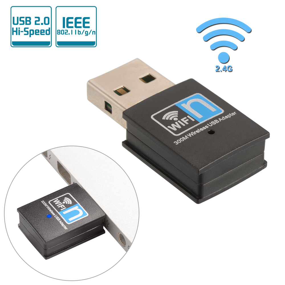 mini usb 2 0 wifi adapter wireless dongle 300mbps network lan ac830 ebay. Black Bedroom Furniture Sets. Home Design Ideas