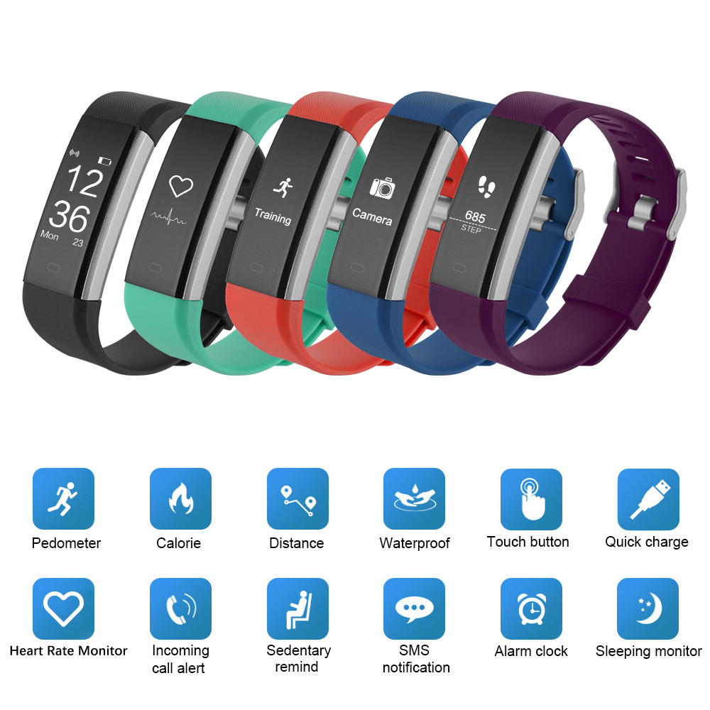 Original Id115 Plus Hr Smart Bracelet Wristband Tracker
