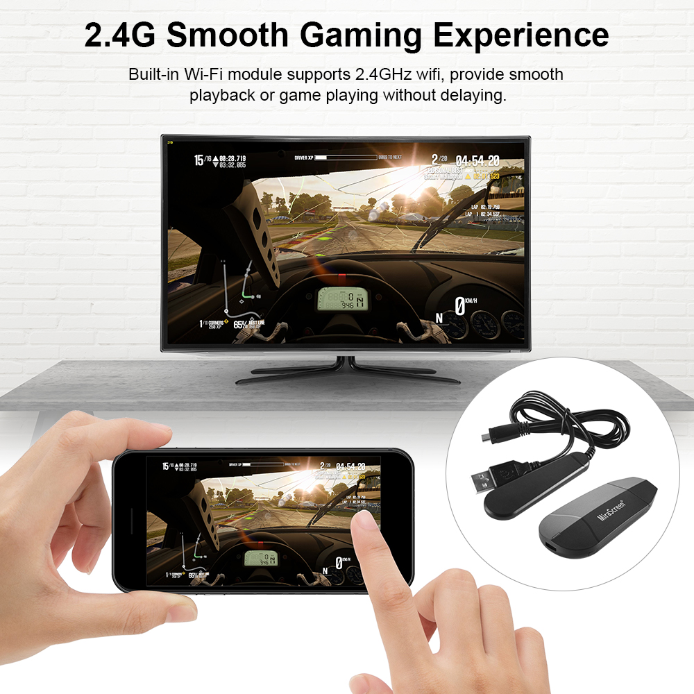 Details about 4K Mirascreen WiFi Display Dongle Airplay Miracast for IOS  Android Windows AH514