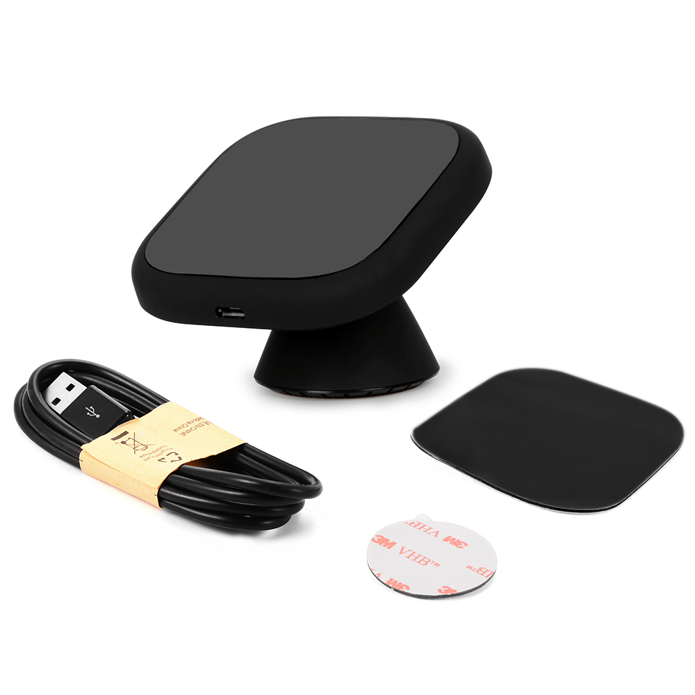qi wireless charger dock magnetic 360 rotating mount. Black Bedroom Furniture Sets. Home Design Ideas