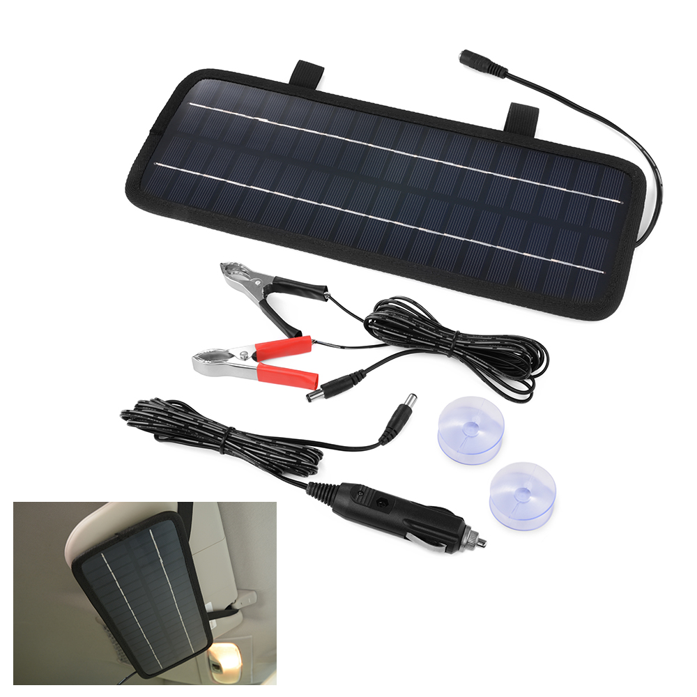4 5w 12v solar panel batterie ladeger t f r car auto motorcycle truck boat bc566 ebay. Black Bedroom Furniture Sets. Home Design Ideas