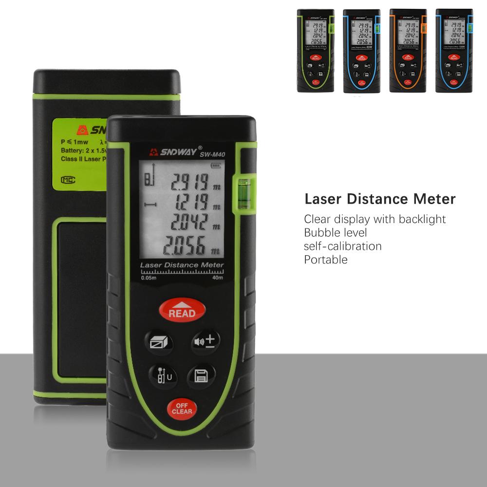 digital laser point distance meter measure tape range finder 40m 60m 80m 100m ebay. Black Bedroom Furniture Sets. Home Design Ideas