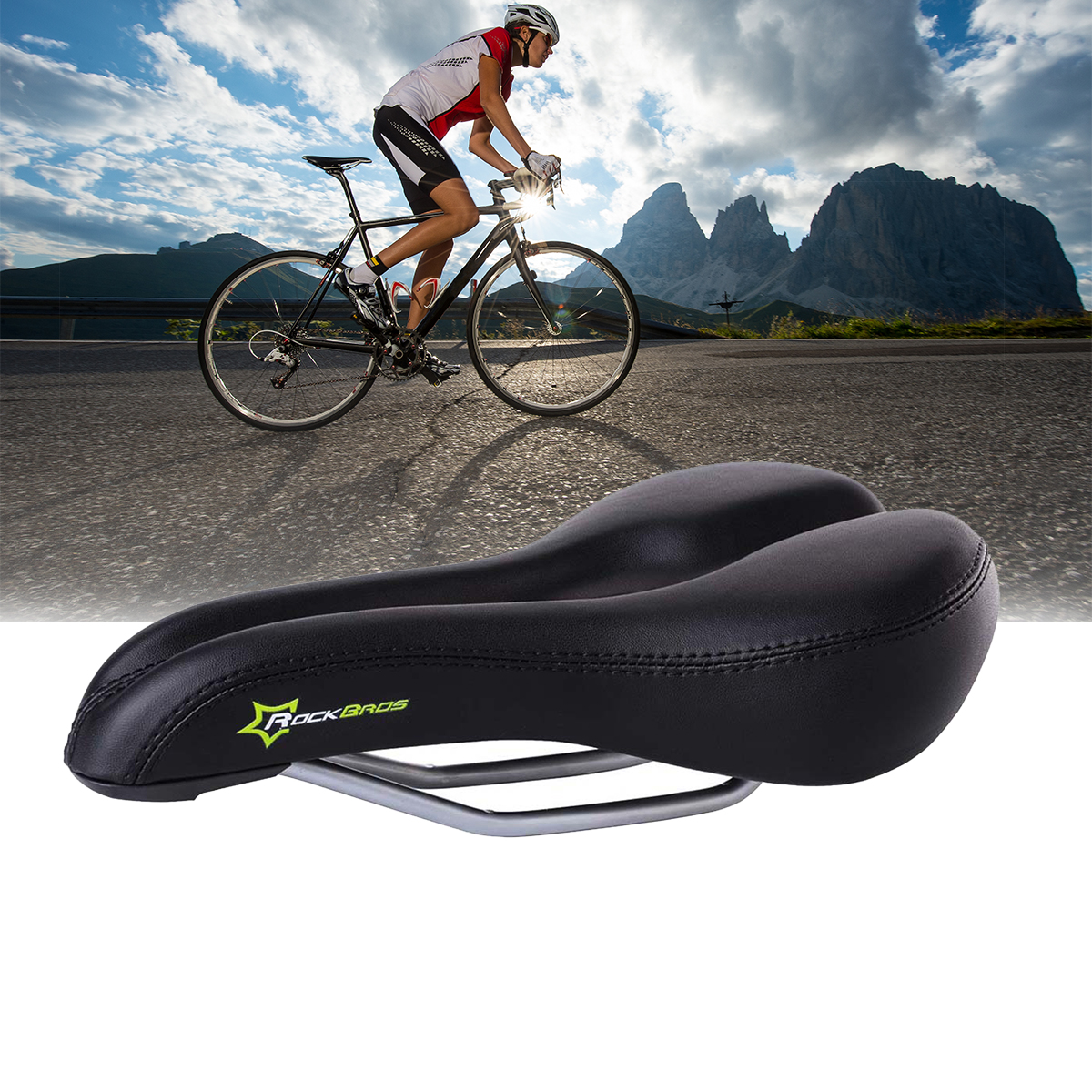 Comfort Saddle Bike Road Mountain MTB Gel Bicycle Cycling Seat Soft Cushion Pad