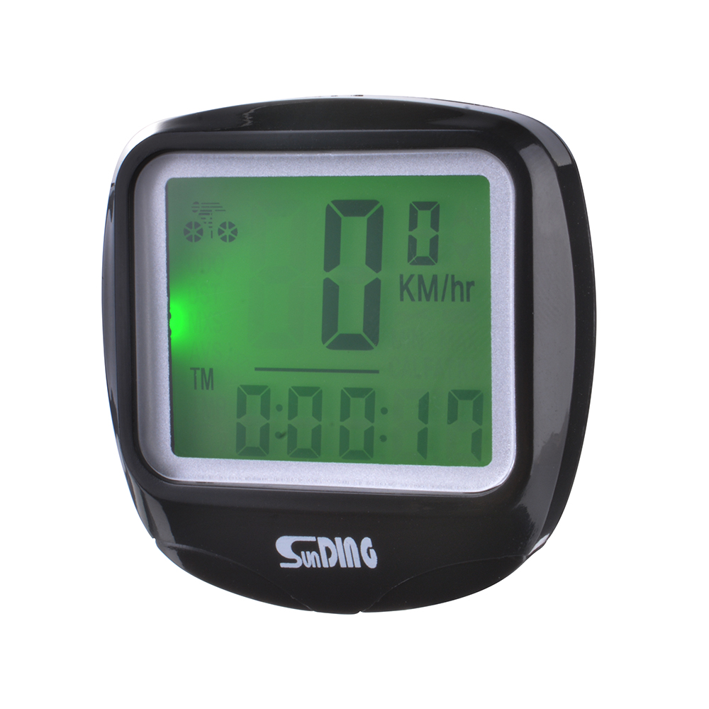 sunding bike bicycle cycling computer speedometer temperature lcd display cs415 ebay. Black Bedroom Furniture Sets. Home Design Ideas