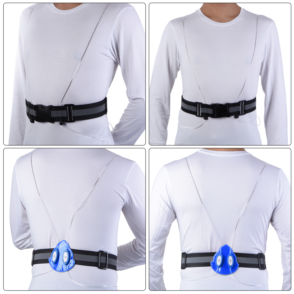Purposeful High Visibility Reflective Safety Security Belt For Night Running Walking Biking Men's Belts