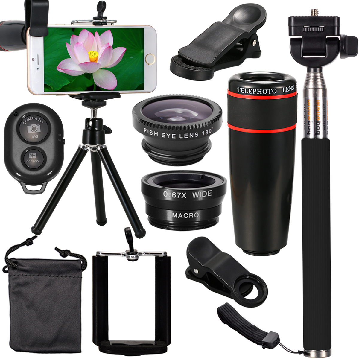 best iphone lens kit all in 1 accessories phone lens top travel kit for 13622