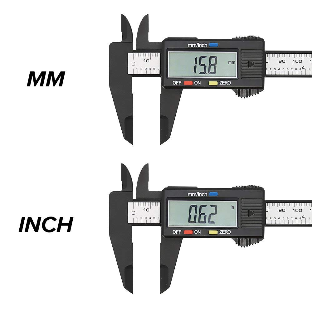 LCD Digital Electronic Gauge  Vernier 150mm 6inch Caliper Micrometer Ruler