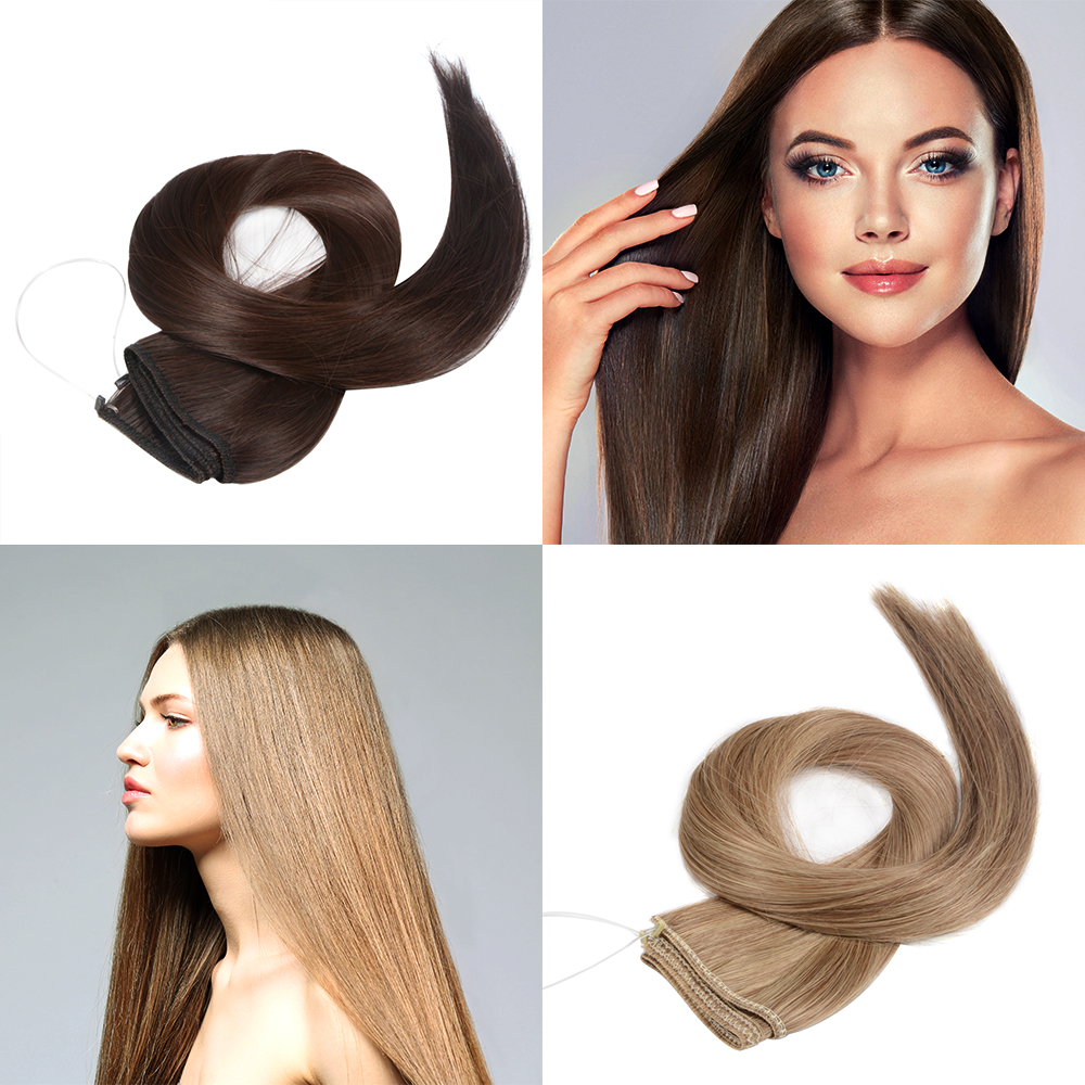 Hair Extensions Hidden Invisible Wire Secret Headband Miracle ...