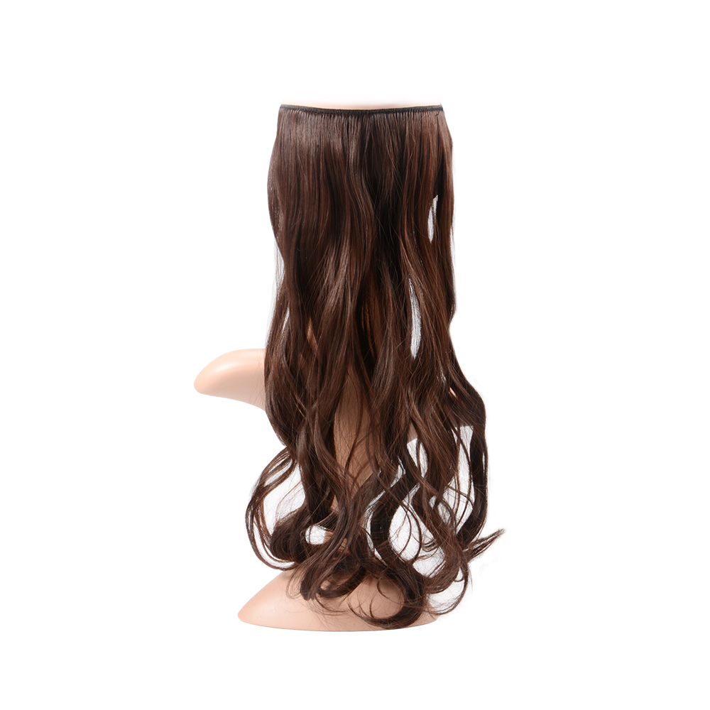 18inch Hair Extensions Hidden Invisible Wire Secret Halo Wavy Curly ...