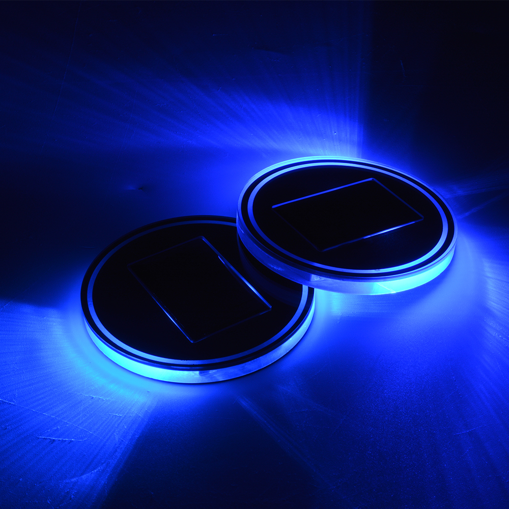 2x car boat cup holder led solar auto light up blue interior mat coaster ld1095 4894663079147 ebay. Black Bedroom Furniture Sets. Home Design Ideas