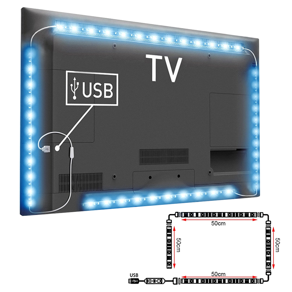 led stripe 5050 smd rgb leiste streifen band lichtband usb strip tv backlight ebay. Black Bedroom Furniture Sets. Home Design Ideas