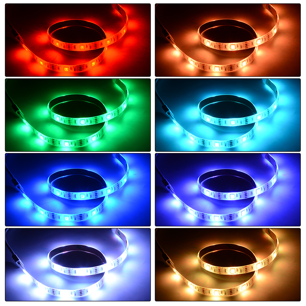 Waterproof 50cm100cm200cm battery powered rgb led strip light waterproof 50cm100cm200cm battery powered rgb led strip light remote control aloadofball Choice Image