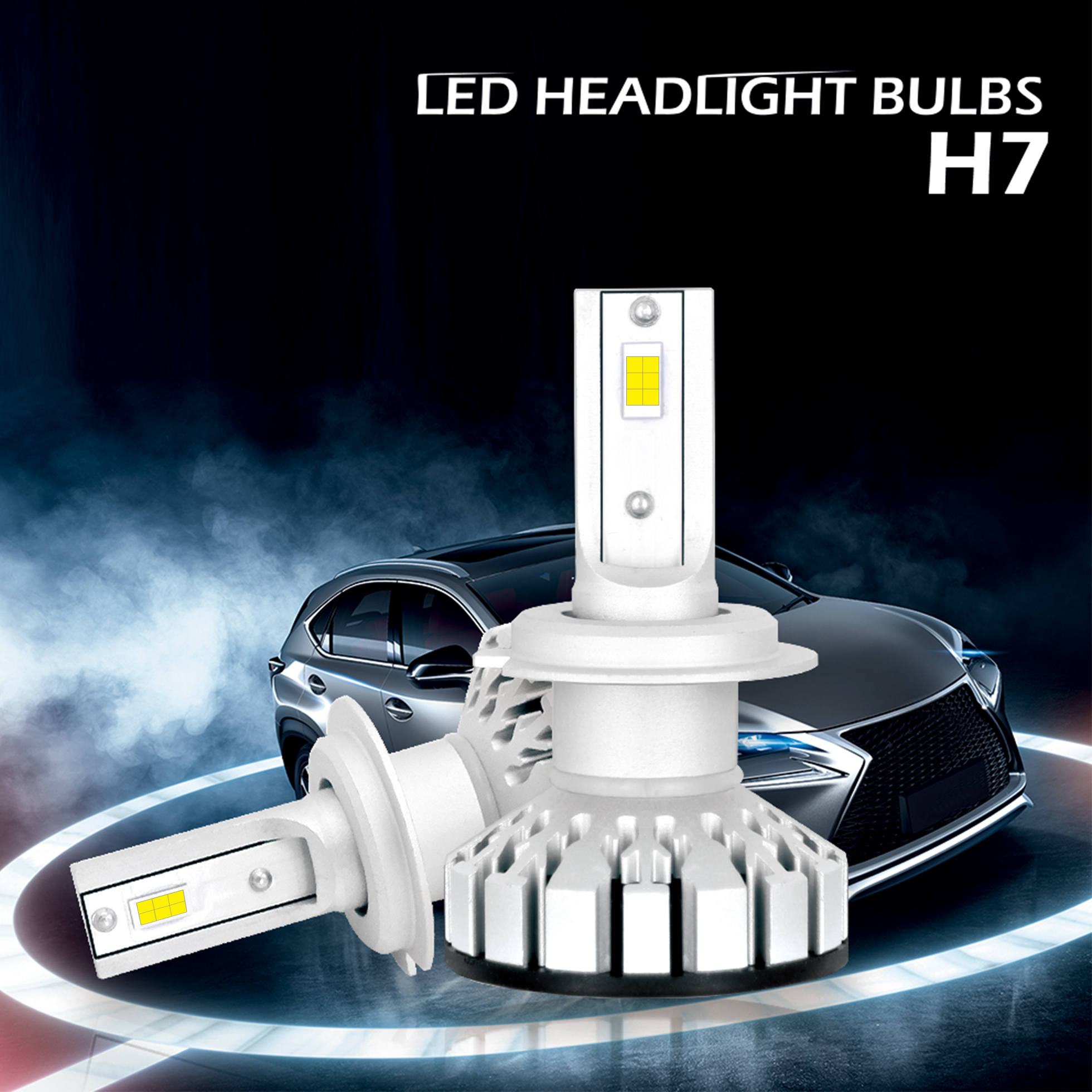 led phare de voiture headlight h7 50w 12000lm super bright ampoule 6000k ld1285 ebay. Black Bedroom Furniture Sets. Home Design Ideas