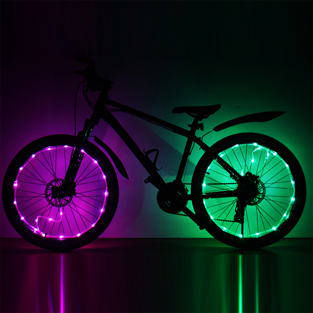Bike Handlebar Grips Light Bike Led Wheel Spoke Bicycle Lights Cycling Lamp