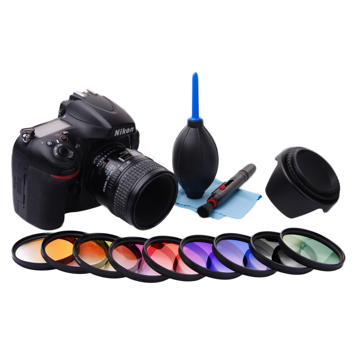 58mm gradu couleur filtre kit pour canon 1100d 700d 650d 600d 550d 100d lf498 ebay. Black Bedroom Furniture Sets. Home Design Ideas
