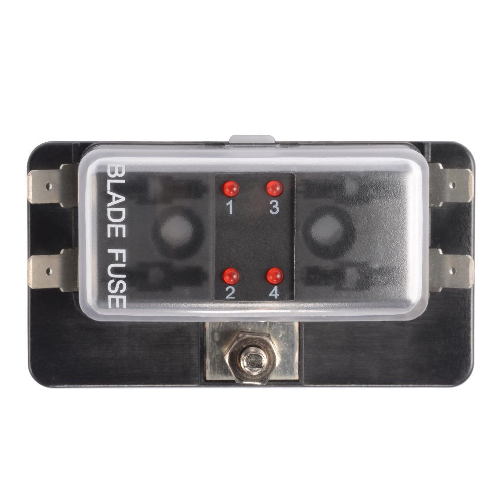 MA1177 E 10 4 4 way circuit blade fuse box block holder 32v for car ato atc boat Auto Blade Fuse Redirect at edmiracle.co