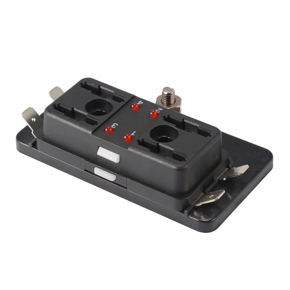 MA1177 E 10 6 4 way circuit blade fuse box block holder 32v for car ato atc boat Auto Blade Fuse Redirect at cos-gaming.co