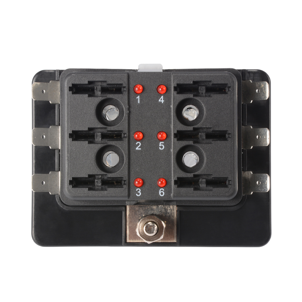 MA1178 E 10 7 6 way circuit blade fuse box block holder 32v for car ato atc boat Marine Fuse Terminal Block at panicattacktreatment.co