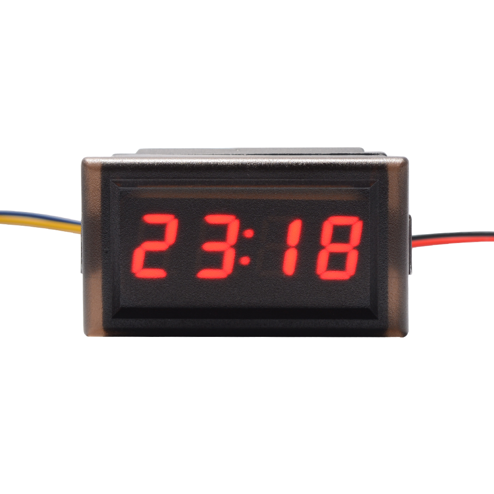 4 digit led digital borduhr uhr clock f r auto. Black Bedroom Furniture Sets. Home Design Ideas