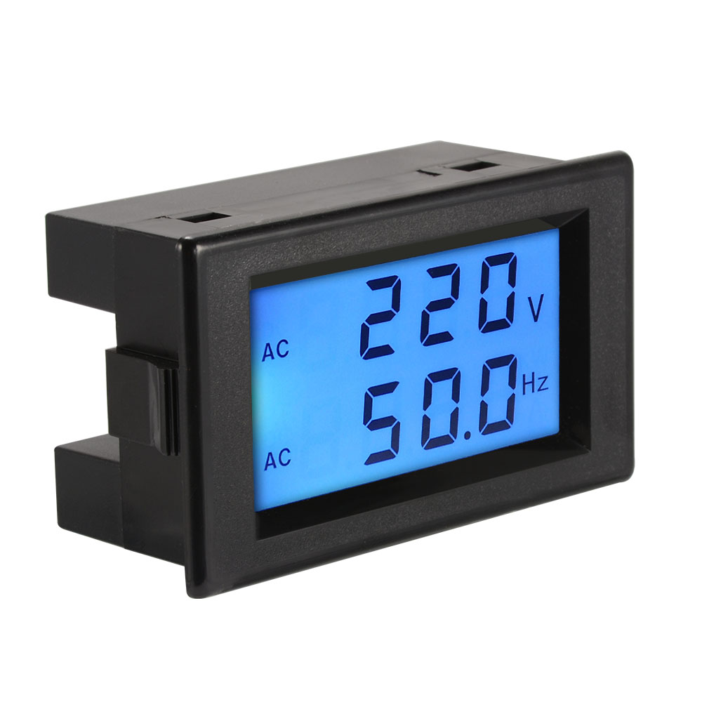 Voltage Frequency Meter : Ac v voltmeter hz frequency voltage meter lcd