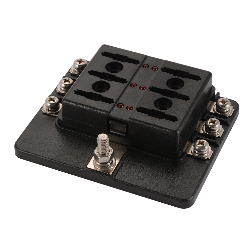 MA1284 E 10 10 6 way blade fuse box block holder fuse included for car boat 6v 6 volt fuse box motorcycles at bayanpartner.co