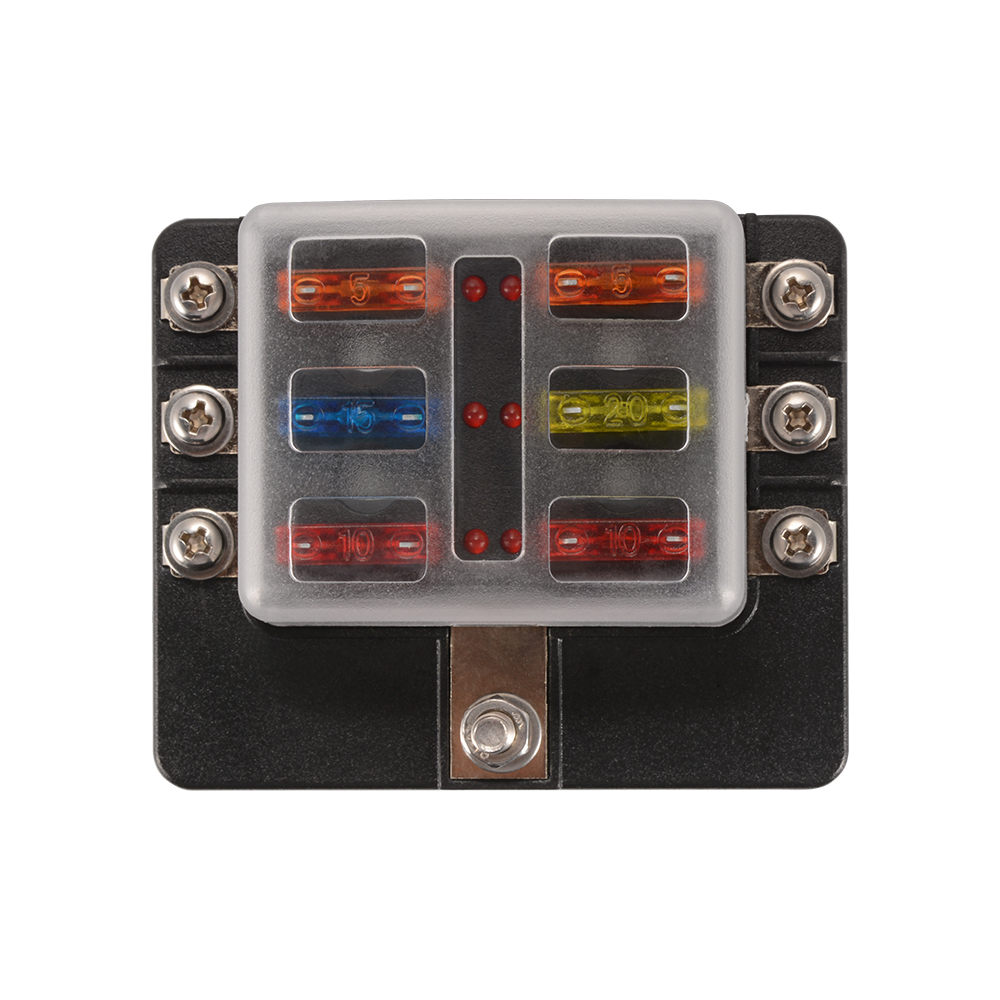 1 x Fuse Box Holder 1 x 40in1 Sticker 4 x Self Tapping Screw 4 x 20A Fuse 4  x 15A Fuse 2 x 10A Fuse 2 x 5A Fuse