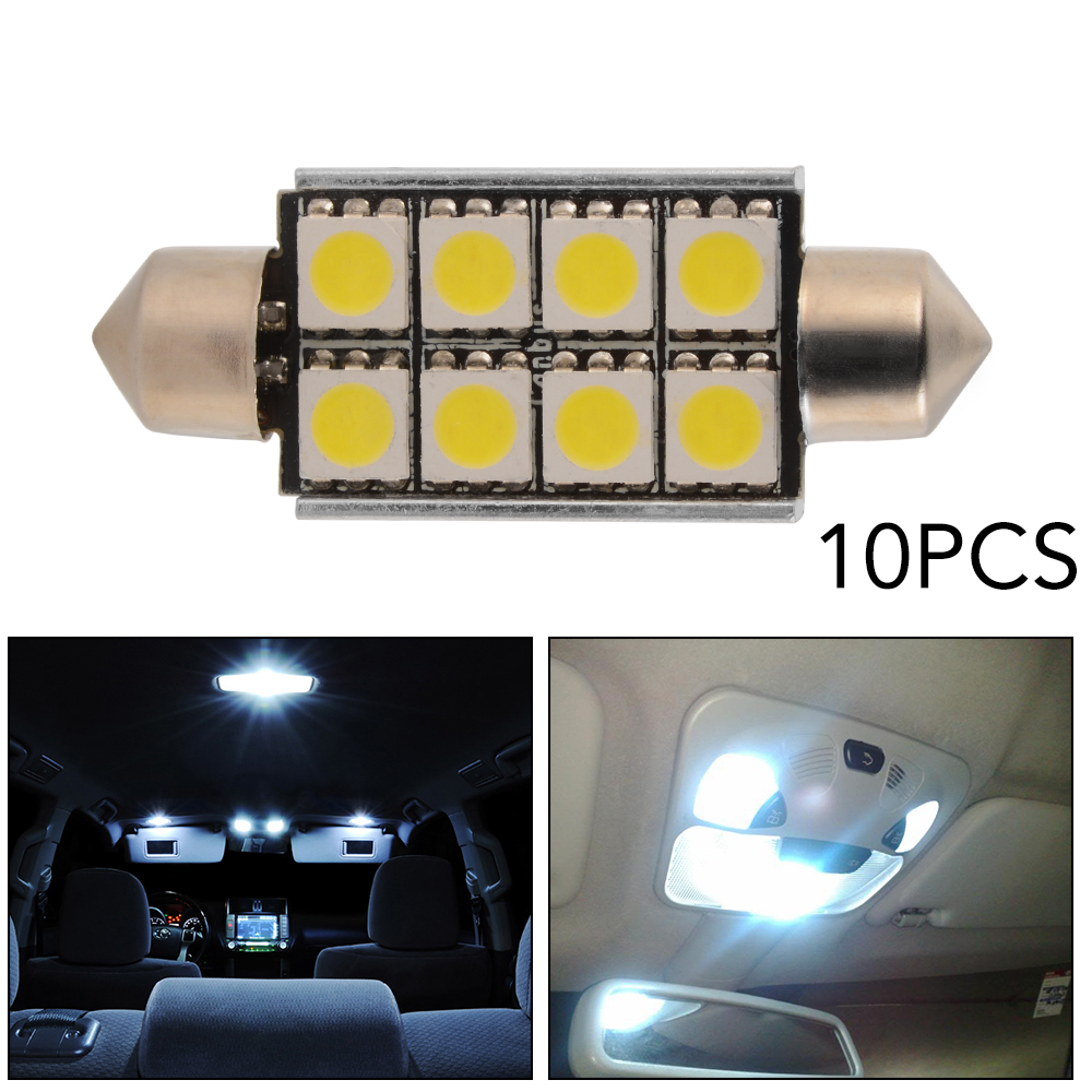 10x 42mm auto soffitte led canbus innenraum beleuchtung lampe wei 8smd ma1315 ebay. Black Bedroom Furniture Sets. Home Design Ideas