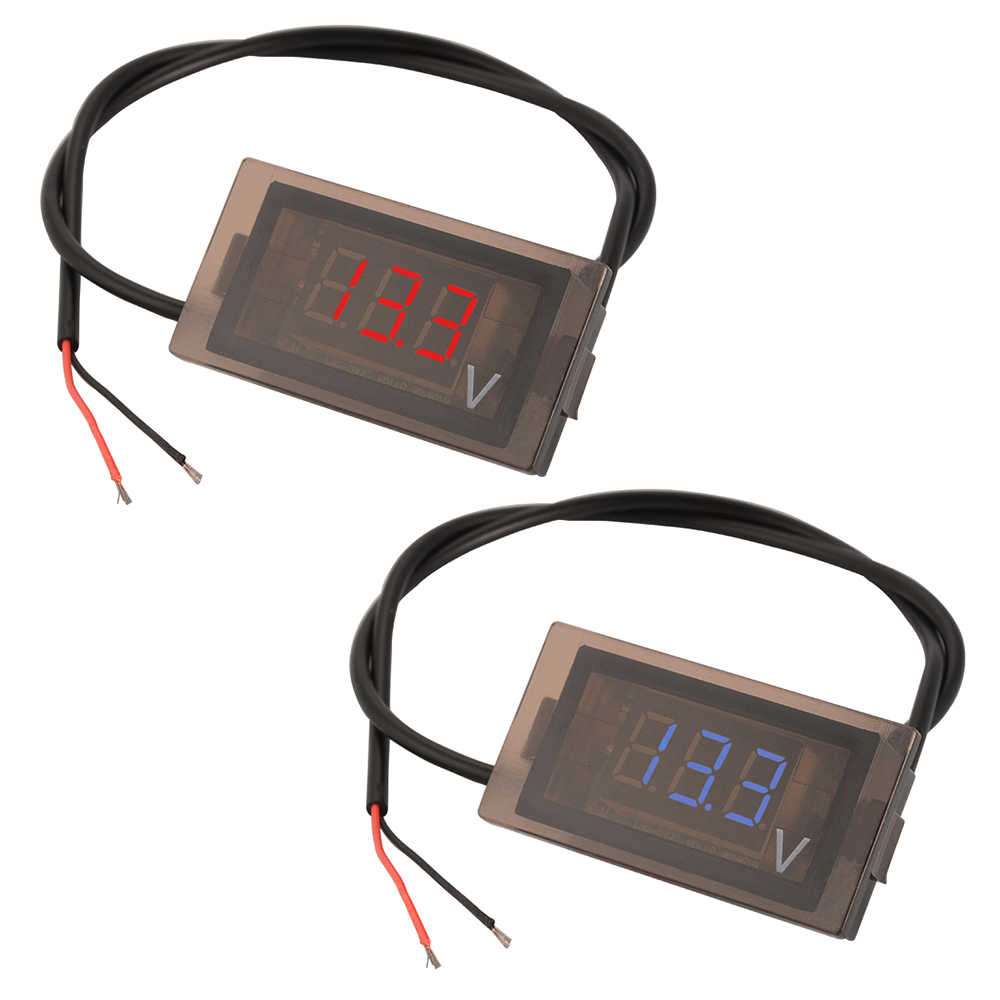 dc 12v 24v digital led panel voltmeter voltage meter. Black Bedroom Furniture Sets. Home Design Ideas