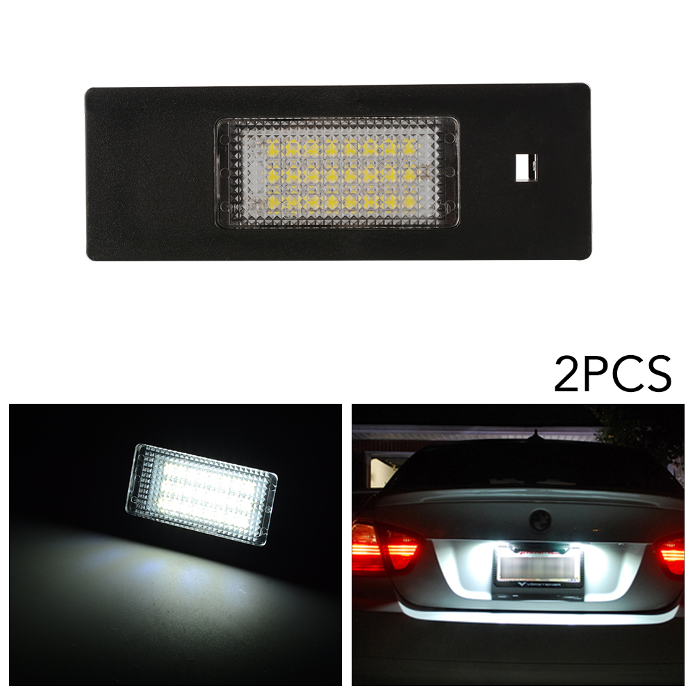 2x 24 led error free license plate light for bmw e63 e64 e81 e85 e87 650i ma1465 ebay. Black Bedroom Furniture Sets. Home Design Ideas
