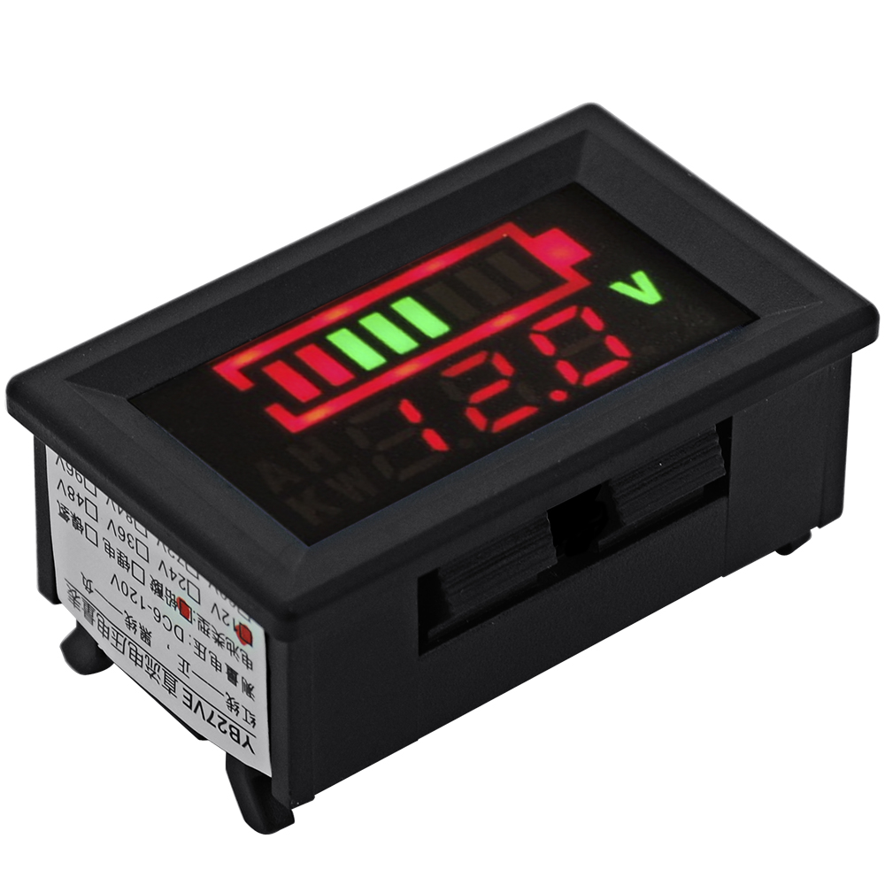 12v 24v acid lead battery voltage dual led display pannel meter voltmeter ma395. Black Bedroom Furniture Sets. Home Design Ideas