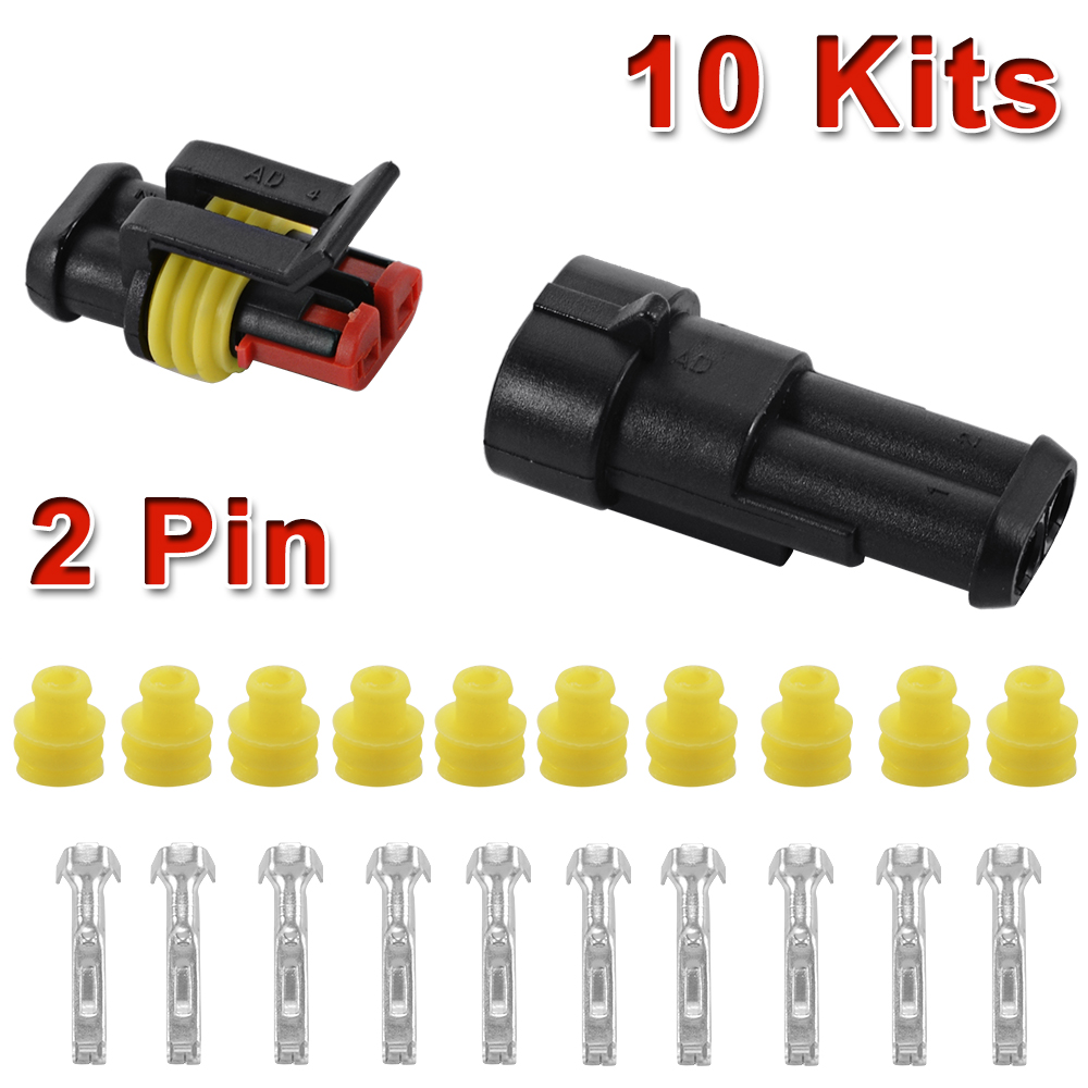 10 kits voiture 2 pin superseal tanche fiche connecteur c ble lectrique ma478 ebay. Black Bedroom Furniture Sets. Home Design Ideas