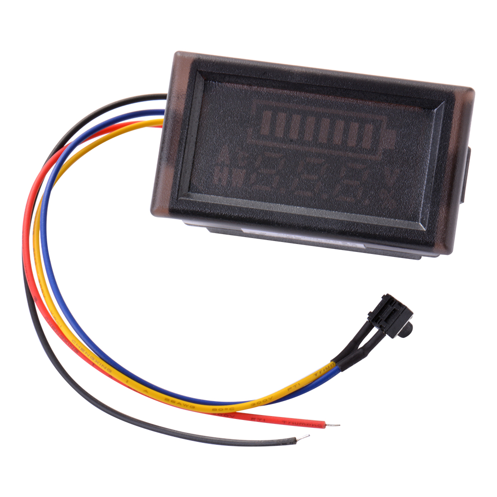 12v 24v Acid Lead Battery Indicator Intuitive Voltage Display Led Automotive Meter Ma927