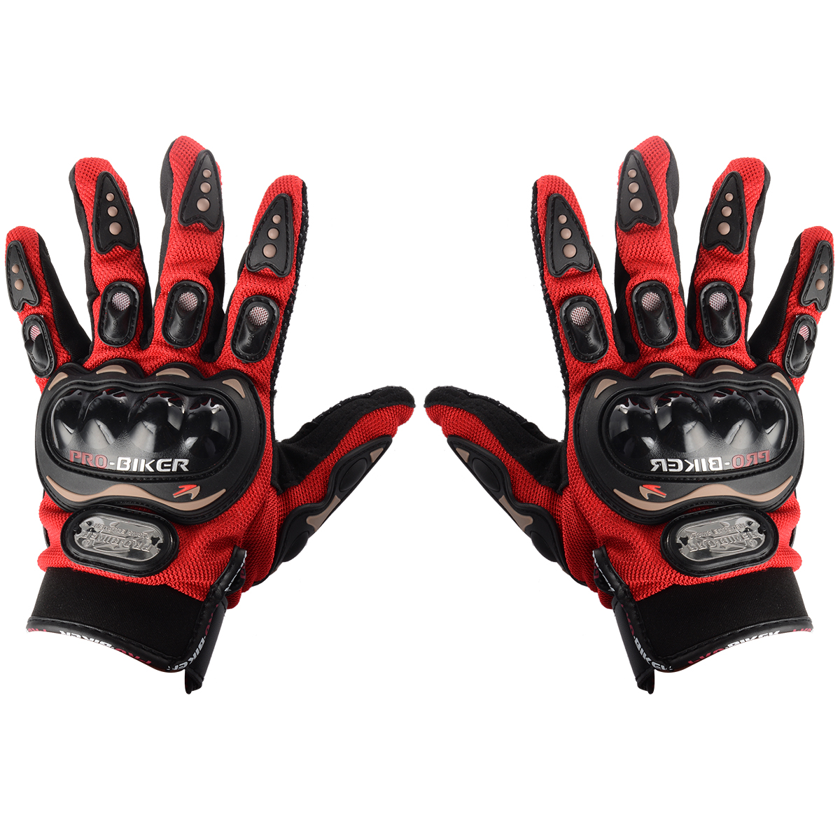 gants de moto doigt complet protection moto cross v lo sport noir rouge bleu ebay. Black Bedroom Furniture Sets. Home Design Ideas