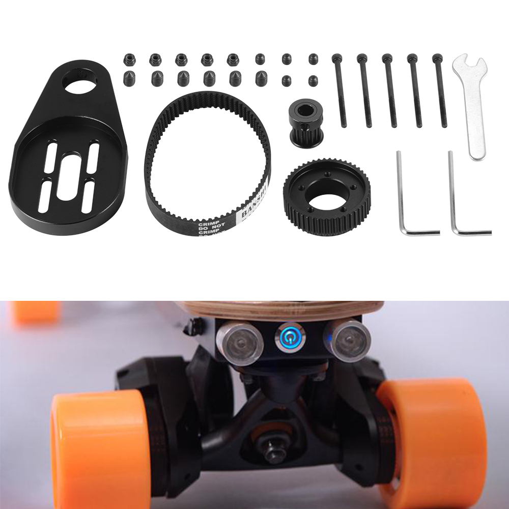diy electric skateboard longboard kit part pulley motor. Black Bedroom Furniture Sets. Home Design Ideas