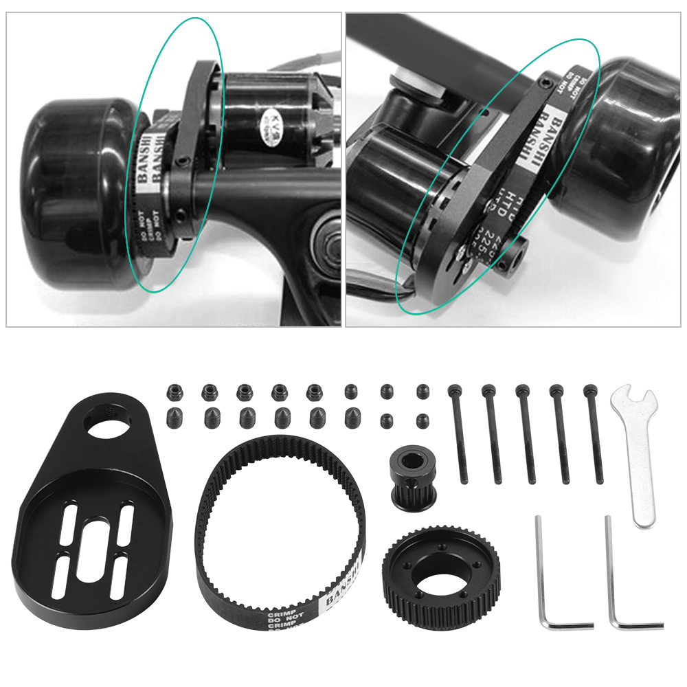 Electric Skateboard Longboard Kit Pulley And Motor Mount