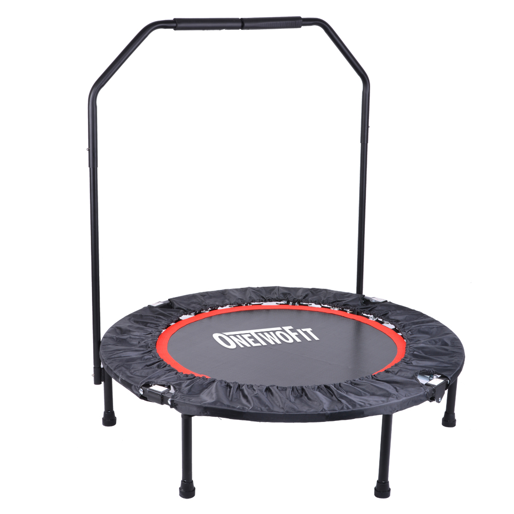 "Softbounce And Hardbounce Mini Trampolines: 40"" Mini Trampoline Jumper Foldable Fitness Exercise"