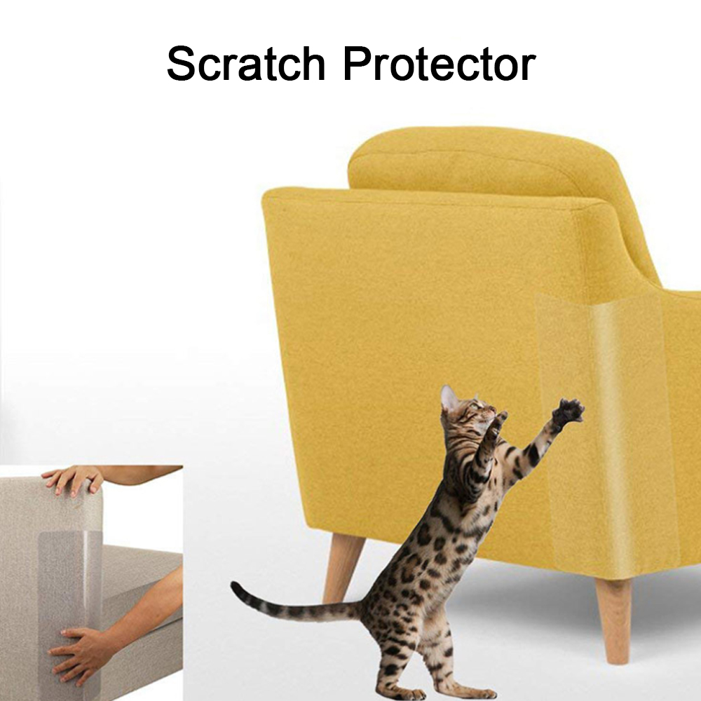 6pcs Pet Cat Scratch Guard Shield Windows Protector