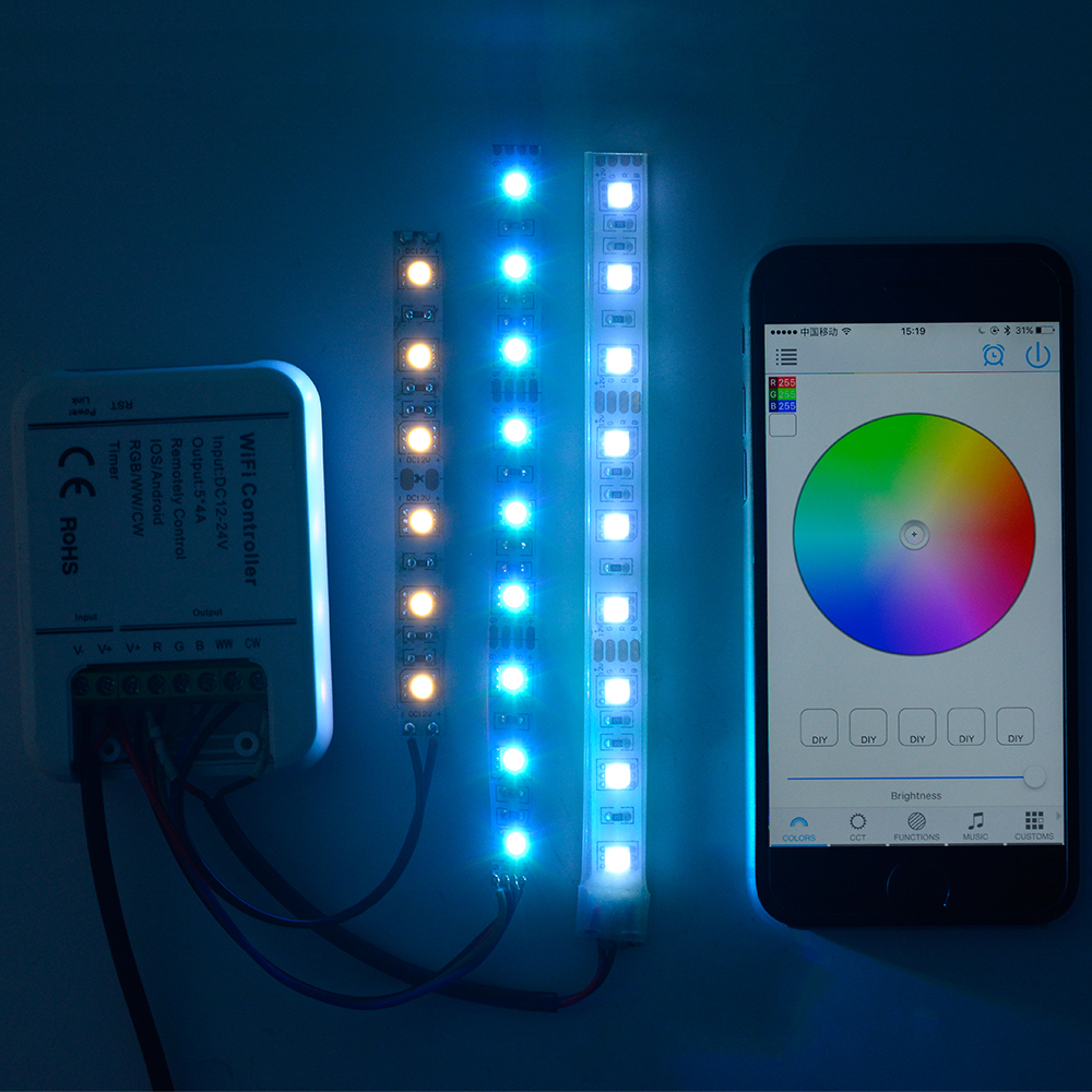 sunix funk rgb wifi led strip fernbedienung steuerung controller ios 20a su705 ebay. Black Bedroom Furniture Sets. Home Design Ideas