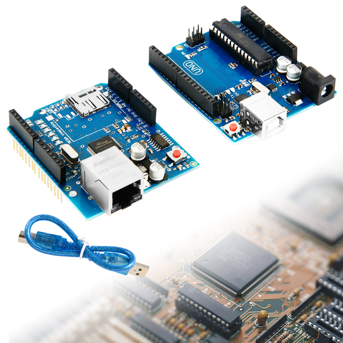 Arduino uno r board ethernet shield w sd expansion