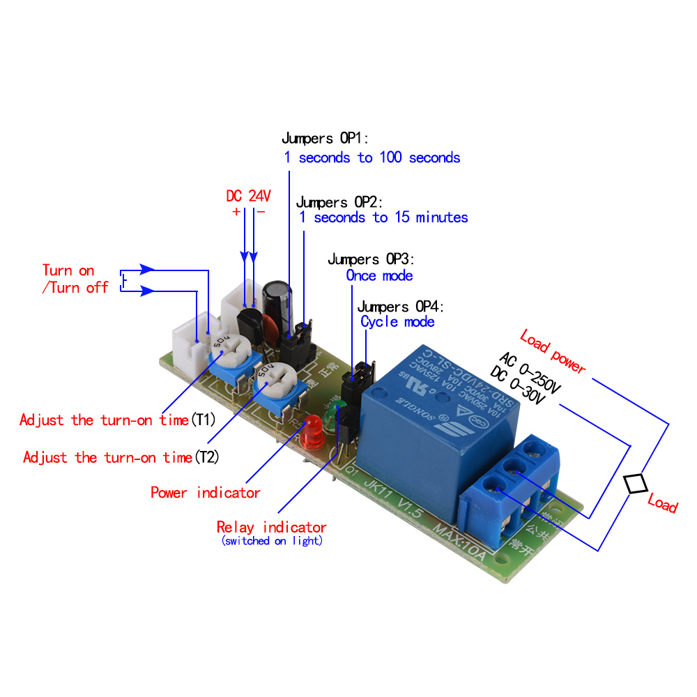 120 Volt Solenoid Switch Wiring Diagram: DC 5V/12V/24V Multifunction Relay Infinite Cycle Timing