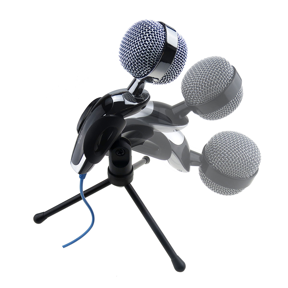 usb desktop table microphone for computer laptop karaoke online chatting th758 ebay. Black Bedroom Furniture Sets. Home Design Ideas