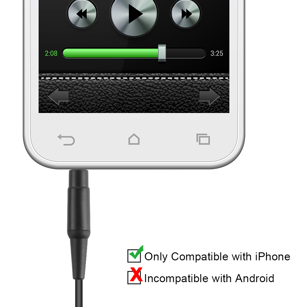 Inline Mic Volume Control Audio Cord For Soundtrue