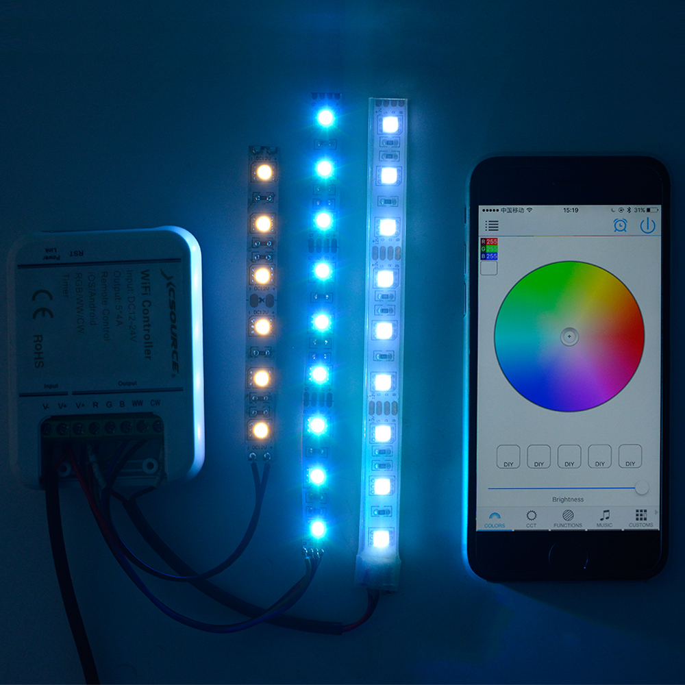 xcsource wifi rgb controller remote f r android led strip licht handy xc321 ebay. Black Bedroom Furniture Sets. Home Design Ideas